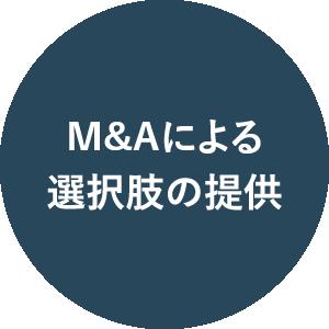 M&Aによる選択肢の提供